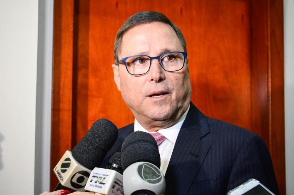 O secretário da Casa Civil, Mauro Carvalho, que esteve reunido na audiência - Foto por: Tchélo Figueiredo - SECOM/MT