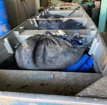 Dupla é pega com apetrechos de pesca predatória em Araguaiana