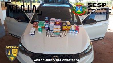 Homem é preso com R$ 7 mil remédios para Covid em MT