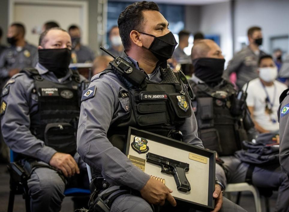 Pistolas entregues pelo Governo de Mato Grosso elevam nível do policiamento no Estado