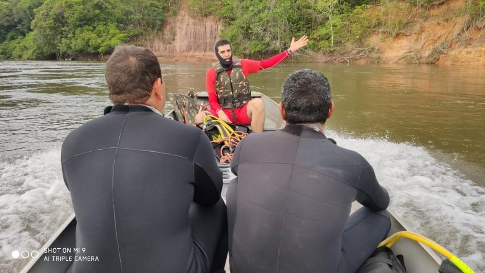 Bombeiros localizam corpo de Eletricista vítima de afogamento em Rio de MT