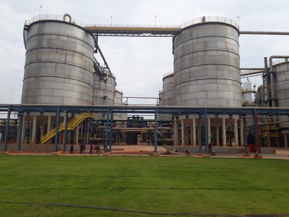 Usina de etanol, em Sinop — Foto: Laércio Romão/ TVCA