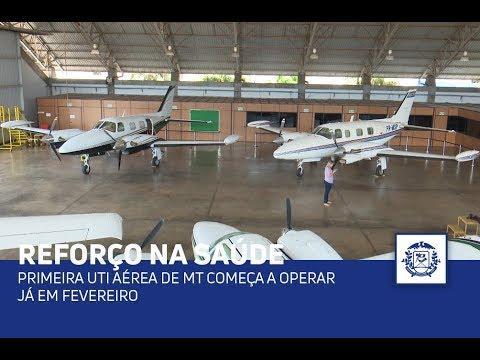 Primeira UTI aérea de MT começa a operar já em fevereiro