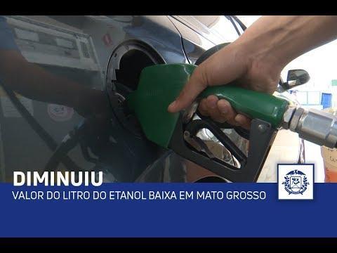 Valor do litro do etanol baixa em Mato Grosso
