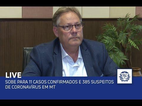 Sobe para 11 casos confirmados e 385 suspeitos de coronavírus em MT